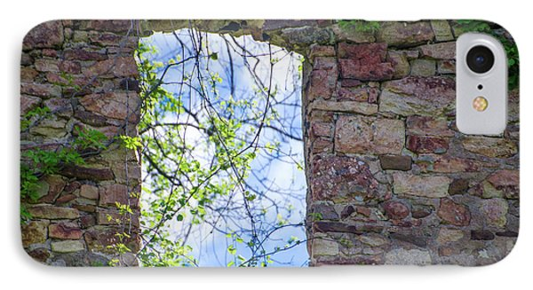 IPhone Case featuring the photograph Ruin Of A Window - Bridgetown Millhouse  Bucks County Pa by Bill Cannon