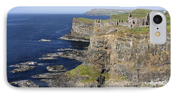Ruins Of Dunluce Castle On The Sea Cliffs Of Northern Ireland Phone Case by Pierre Leclerc Photography