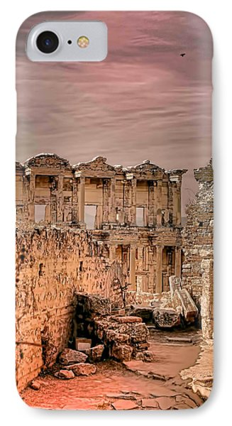 Ruins Of Ephesus IPhone Case by Tom Prendergast