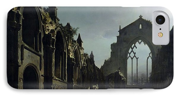 Ruins Of Holyrood Chapel IPhone Case by Louis Jacques Mande Daguerre