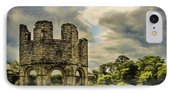 IPhone Case featuring the painting Ruins Of Mellifont Abbey by Jeff Kolker