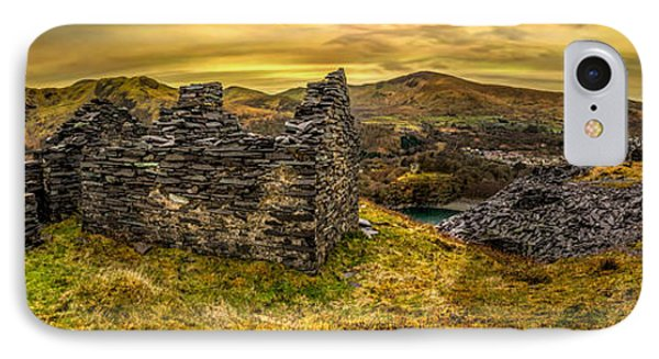 Ruins Of Snowdonia Panorama IPhone Case
