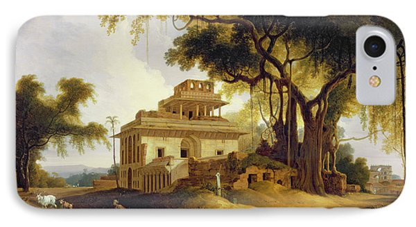 Ruins Of The Naurattan Phone Case by Thomas Daniell