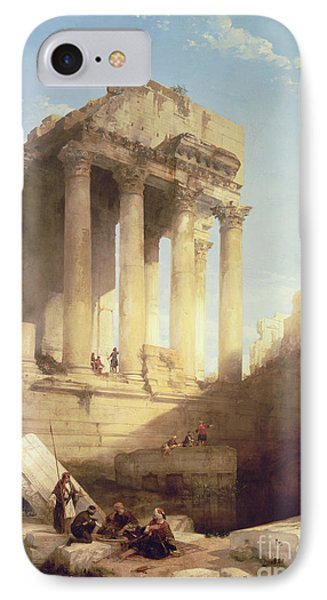 Ruins Of The Temple Of Bacchus Phone Case by David Roberts