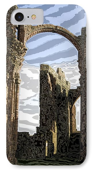 Ruins On The Holy Island Phone Case by Carl Purcell