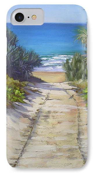 IPhone Case featuring the painting Rules Beach Queensland Australia by Chris Hobel