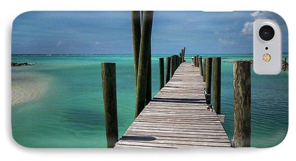 Rum Cay Marina Jetty In Bahamas Phone Case by Jola Martysz