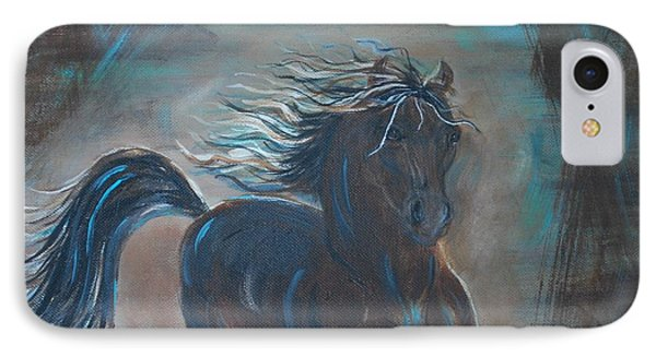IPhone Case featuring the painting Run Horse Run by Leslie Allen