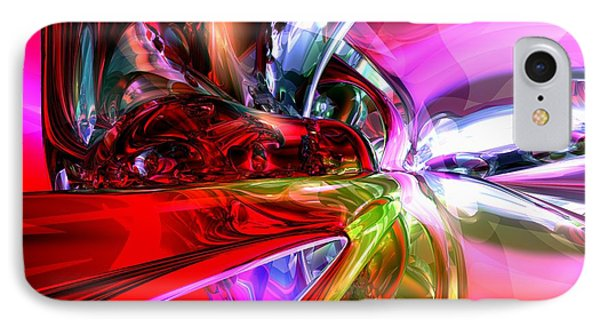 Runaway Color Abstract Phone Case by Alexander Butler
