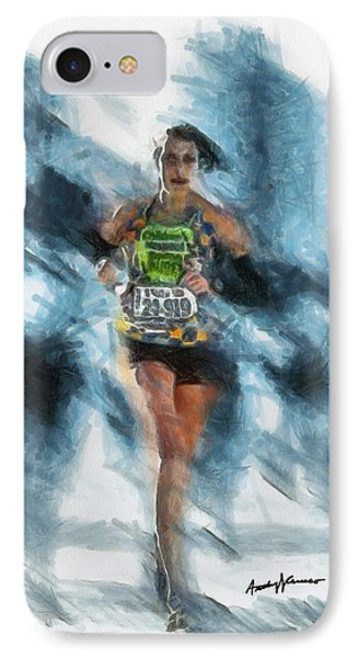 Runner Phone Case by Anthony Caruso