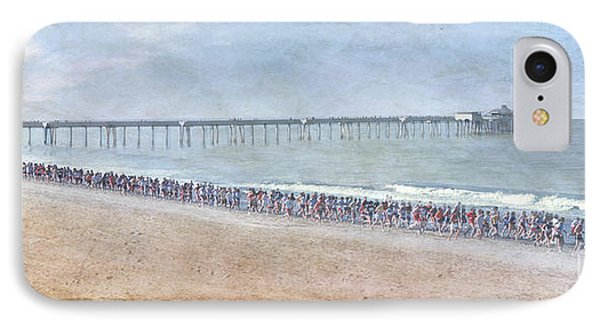 IPhone Case featuring the photograph Runners On The Beach Panorama by David Zanzinger