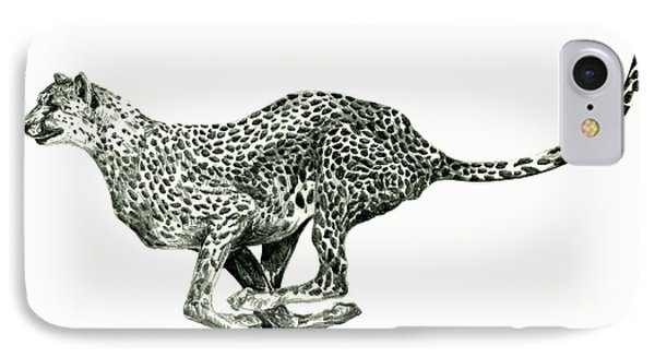Running Cheetah IPhone Case by Shirley Heyn