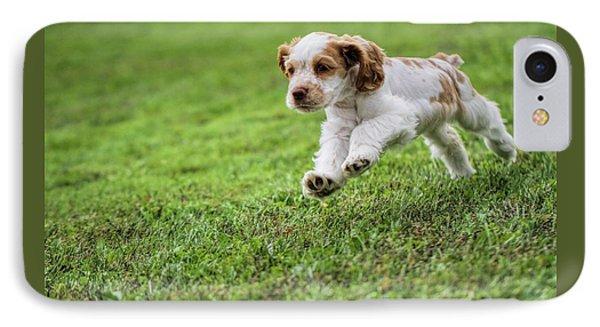 Running Cocker Spaniel Puppy IPhone Case