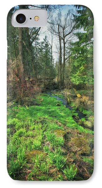 Running Creek In Woods - Spring At Retzer Nature Center IPhone Case by Jennifer Rondinelli Reilly - Fine Art Photography