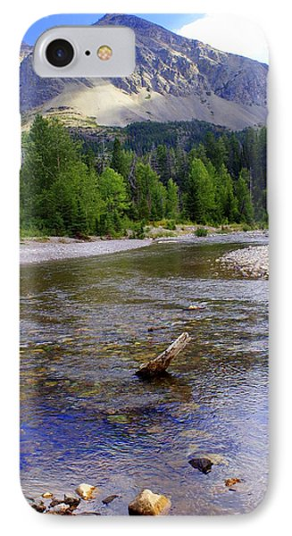Running Eagle Creek Glacier National Park Phone Case by Marty Koch