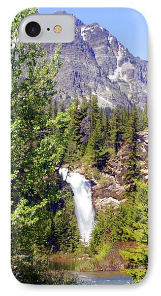 Running Eagle Falls Glacier National Park Phone Case by Marty Koch