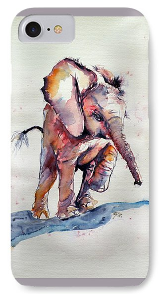 Running Elephant Baby IPhone Case