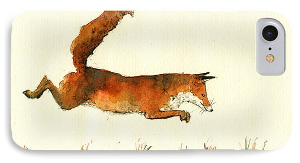 Running Fox IPhone Case by Juan  Bosco