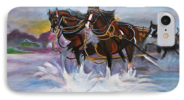 Running Horses- Beach Gallop IPhone Case