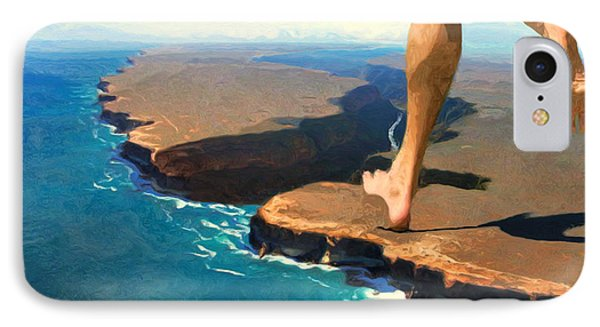 Running On The Edge IPhone Case