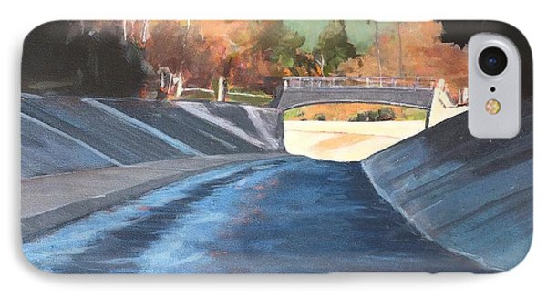 Running The Arroyo, Wet IPhone Case by Richard Willson