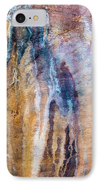 IPhone 7 Case featuring the photograph Runoff Abstract, Bhimbetka, 2016 by Hitendra SINKAR