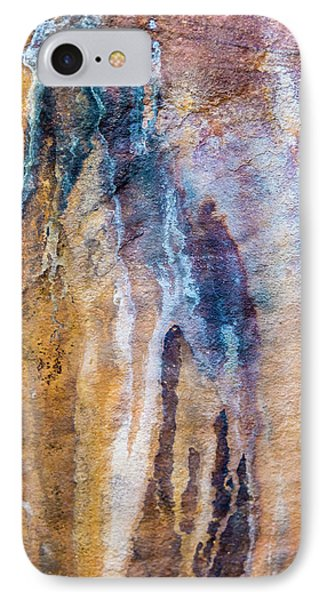 IPhone Case featuring the photograph Runoff Abstract, Bhimbetka, 2016 by Hitendra SINKAR