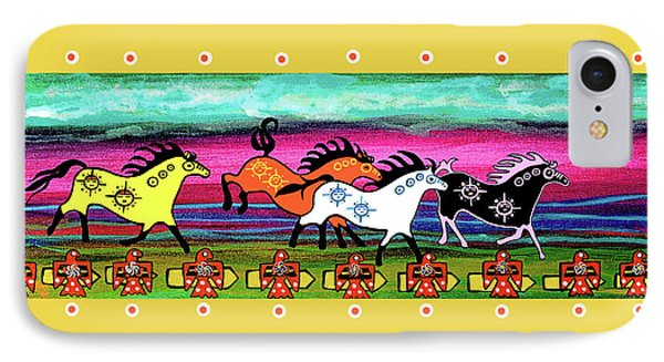 IPhone Case featuring the painting Running Free by Debbie Chamberlin