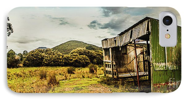 Rustic Abandoned Shed In Old Rural Countryside IPhone Case