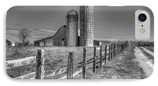 Rural America 2 Barn And Silos Tennessee IPhone Case by Reid Callaway