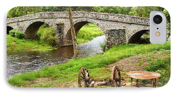 Rural France With Old Stone Arched Bridge Phone Case by Menega Sabidussi