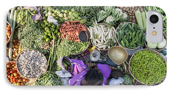 Rural Indian Vegetable Market IPhone 7 Case by Tim Gainey