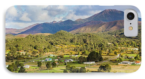 Rural Landscape With Mountains And Valley Village IPhone Case