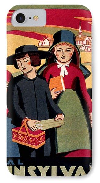 Rural Pennsylvania 1938, Amish Children On A Way To School IPhone Case by Zalman Latzkovich