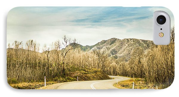 Rural Road To Australian Mountains IPhone Case