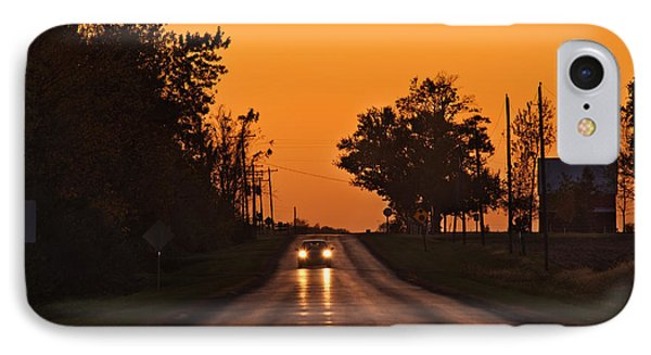 Rural Road Trip IPhone Case by Steve Gadomski