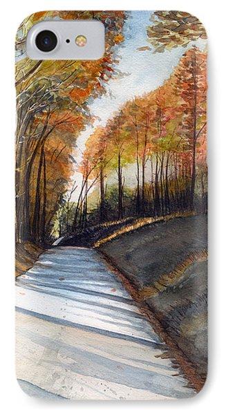 Rural Route In Autumn IPhone Case