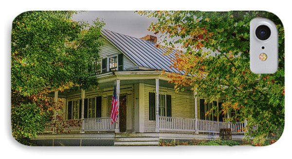 IPhone Case featuring the photograph Rural Vermont Farm House by Deborah Benoit