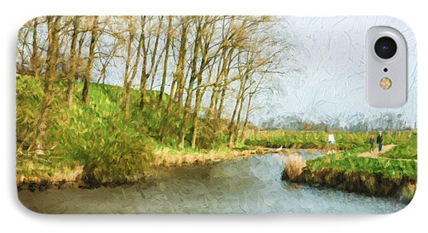 Rural Winter Landscape - Painterly IPhone Case by Pati Photography