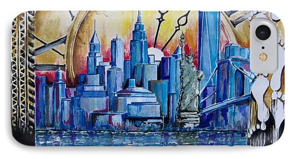 Rush Hour In New York  IPhone Case by Geni Gorani