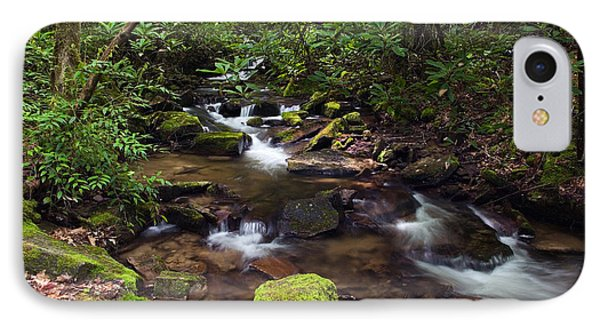 Rushing Stream Through Appalachian IPhone Case by Panoramic Images