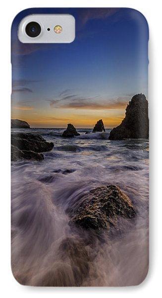 Rushing Tide On Rodeo Beach IPhone Case by Rick Berk