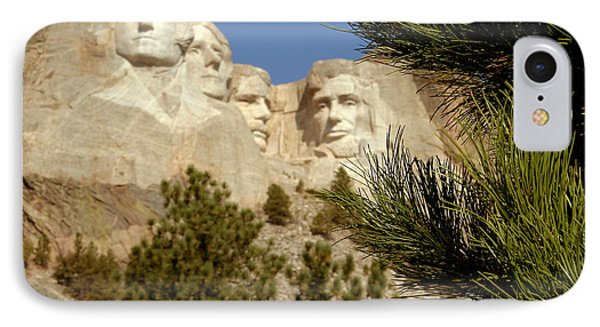 Rushmore Pine Needles Phone Case by Mike Oistad