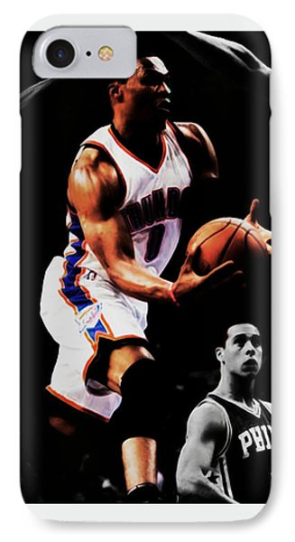 Russell Westbrook Going Underneath IPhone Case by Brian Reaves