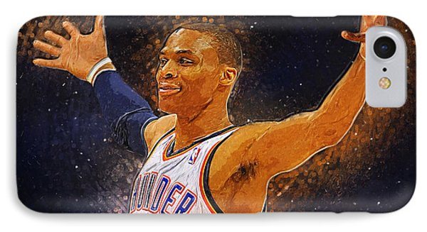 Russell Westbrook IPhone Case by Semih Yurdabak