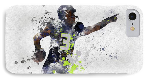 Russell Wilson IPhone Case by Rebecca Jenkins