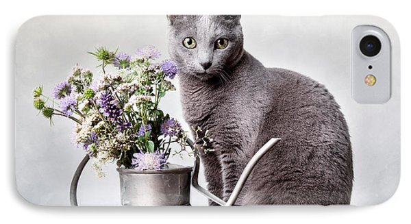 Russian Blue 02 IPhone Case by Nailia Schwarz
