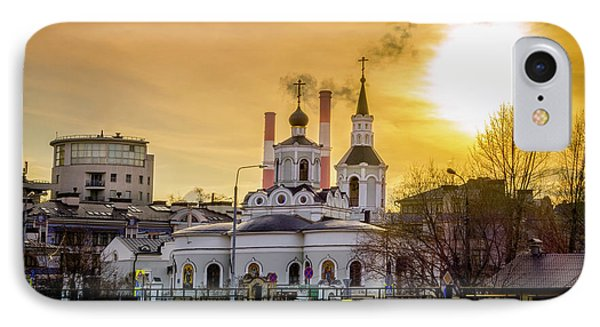 IPhone Case featuring the photograph Russian Ortodox Church In Moscow, Russia by Alexey Stiop