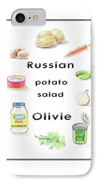 Russian Potato Salad Olivie IPhone Case by Masha Batkova
