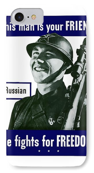 Russian - This Man Is Your Friend Phone Case by War Is Hell Store